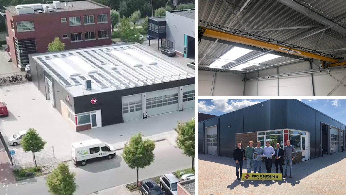 Realisatie nieuwbouw bedrijfshal, ca. 600 m² met daarin een klein kantoor
