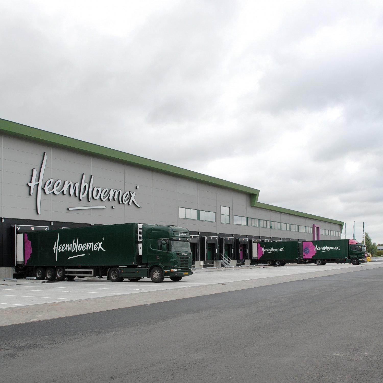 Nieuwbouw bedrijfspand Heembloemex Rijnsburg