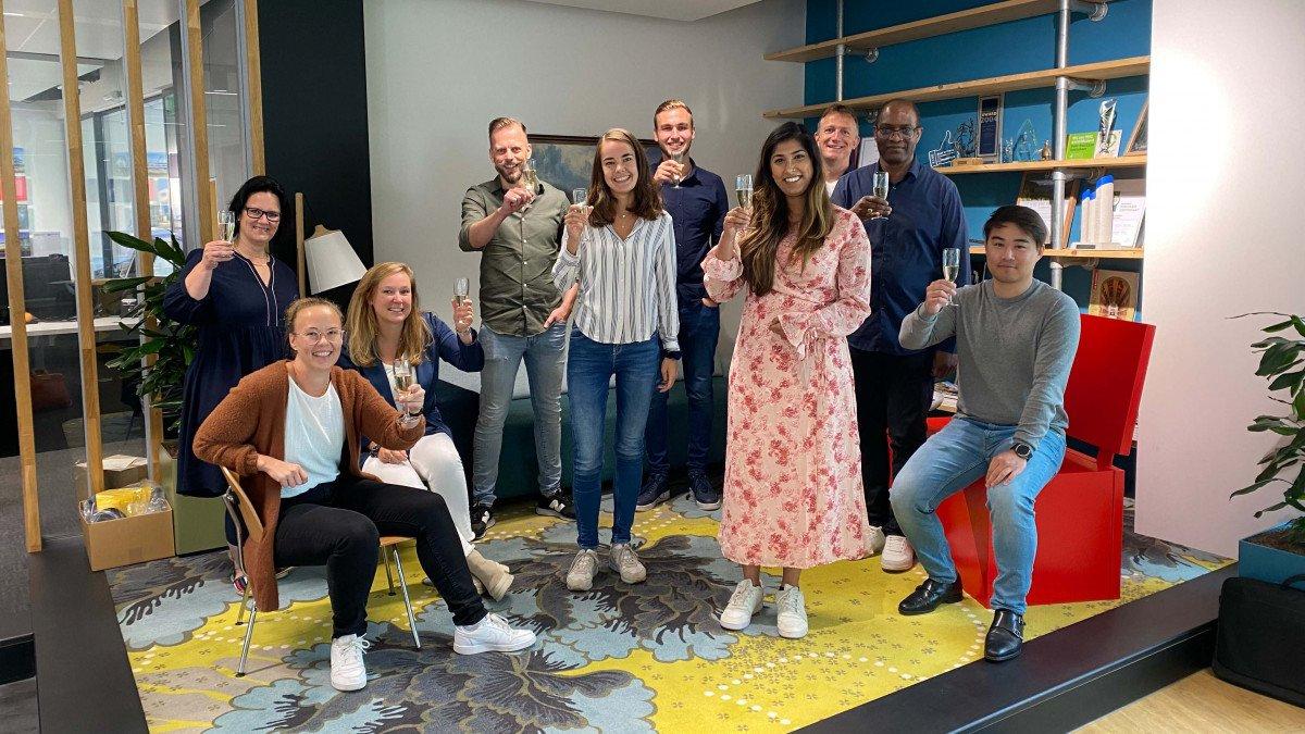 Nieuwe collega's tijdens hun introductieprogramma bij Heembouw