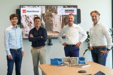 Heembouw en Van Berlo gaan een samenwerking aan om een circulaire betonvloer te realiseren