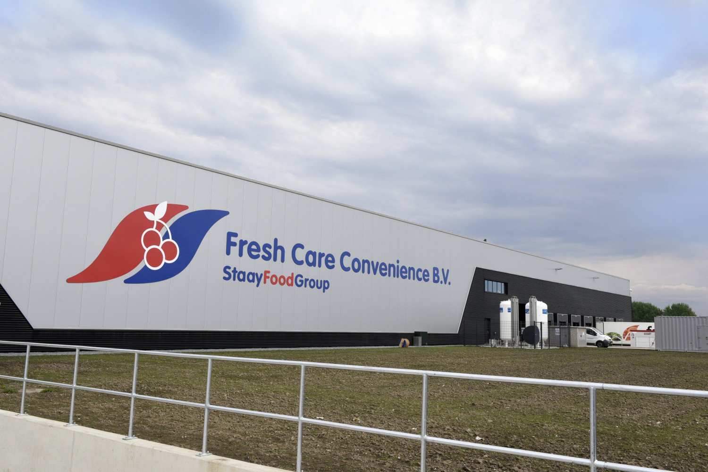 Nieuwbouw high-tech groentensnijderij en productiesite Fresh Care Convenience onderdeel Staay Food Group