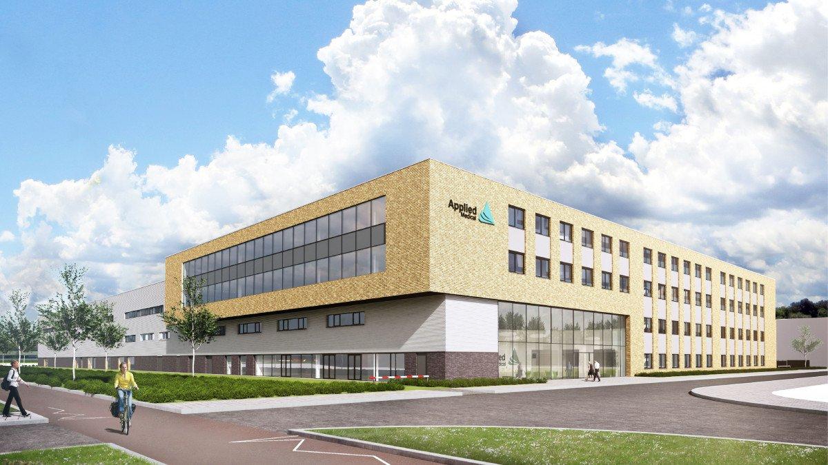 Nieuwbouw kantoor en productielocatie Applied Medical Amersfoort impressie ontwerp Habeon Architecten