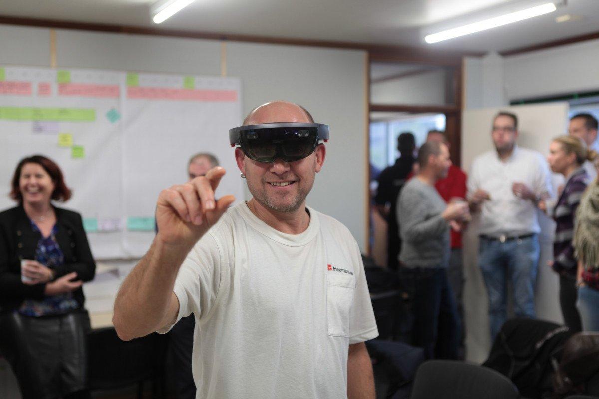 HoloLens innovatie bouwplaats BIM