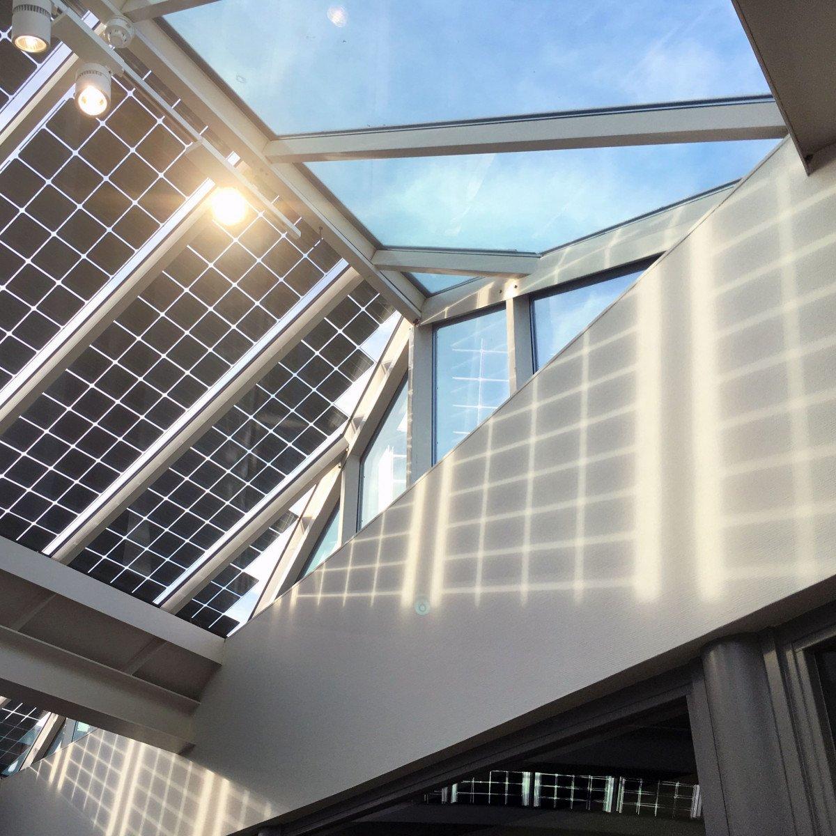 Duurzaamheid van container begrip naar concrete acties zonnecellen atrium