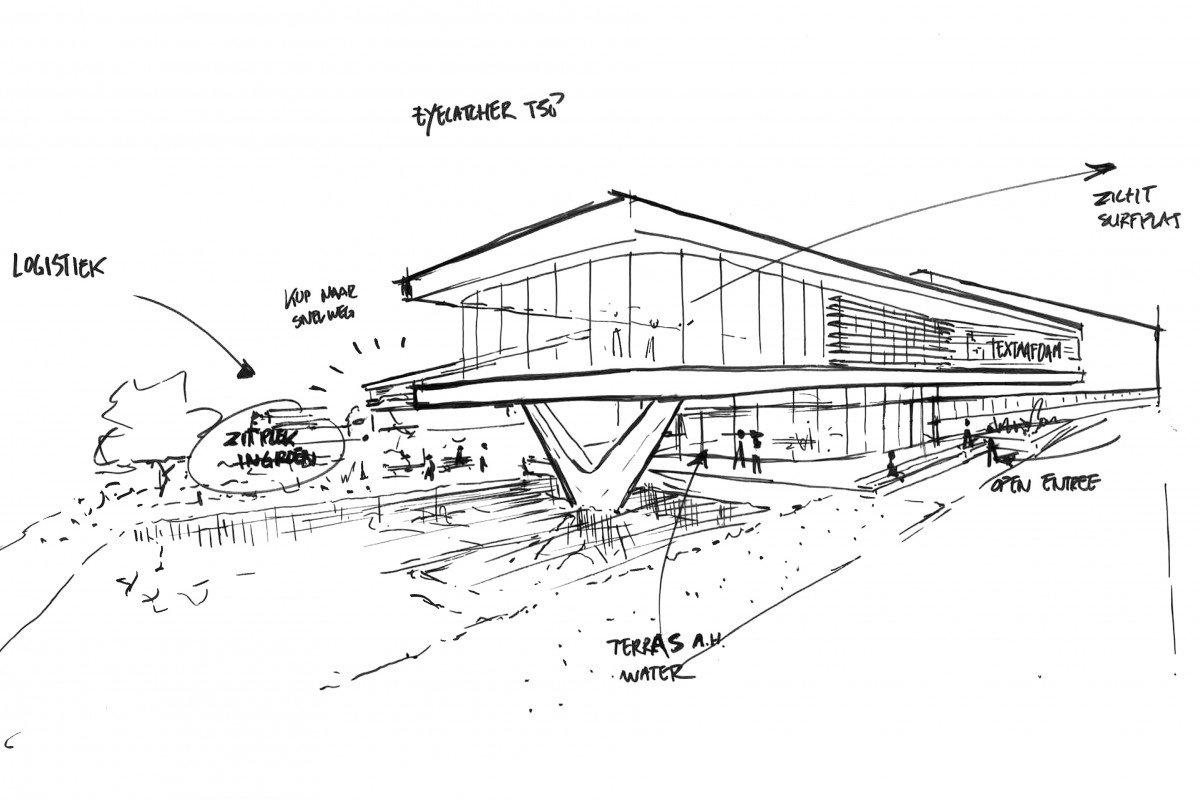 Schets Textaafoam door Heembouw Architecten