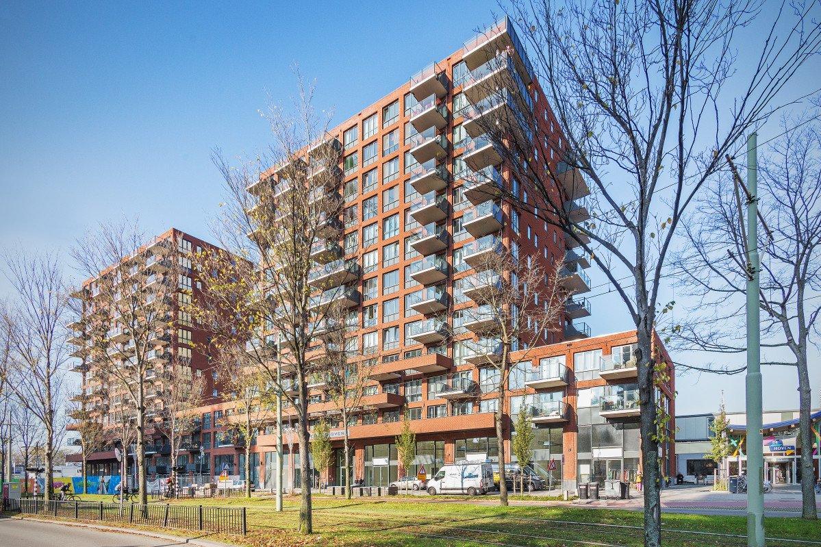 overzicht twee woontorens Wonen boven de hoven Delft