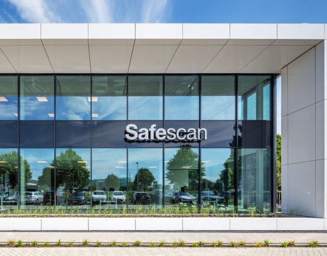 Gevel kantoor Safescan Zoetermeer ontwerp Heembouw Architecten