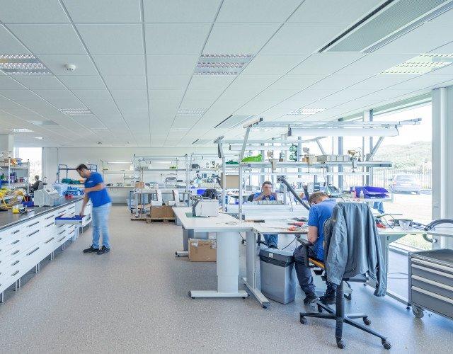 productieruimte bedrijfshal LEMO Haarlem ontwerp Heembouw Architecten