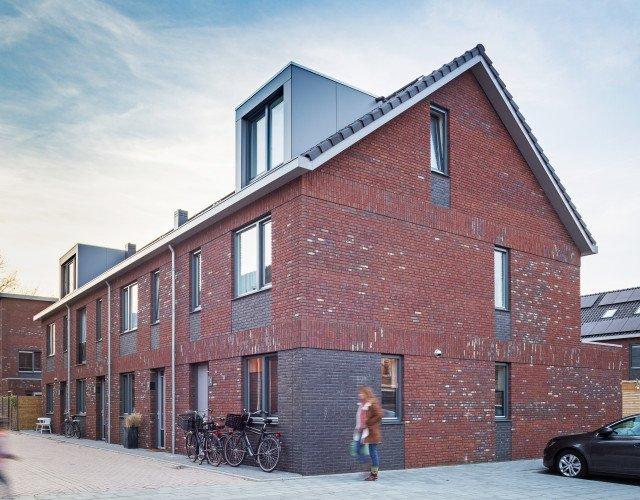 zijgevel nieuwbouw woonwijk De Marlot met 58 woningen ontwerp Heembouw Architecten