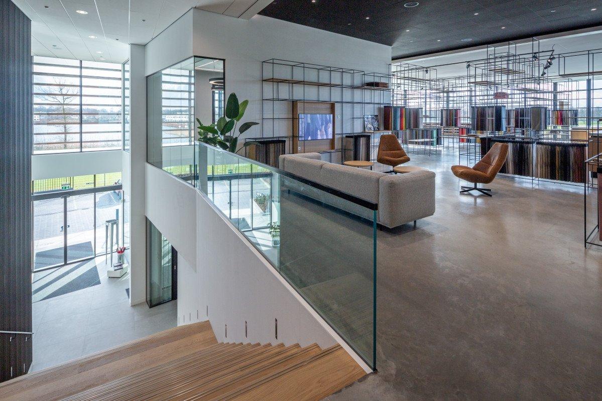 interieur showroom Textaafoam Tilburg