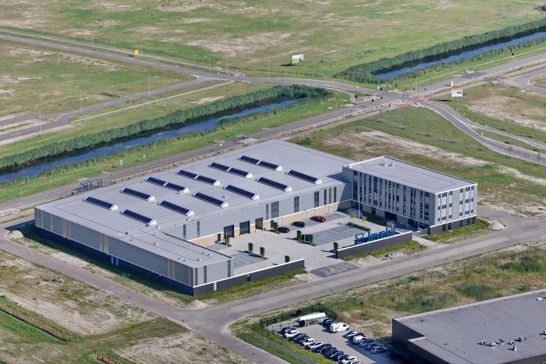 luchtfoto Nieuwe huisvesting groothandel Jeveka Almere Poort