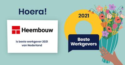 Heembouw Beste Werkgever 2021 van Nederland