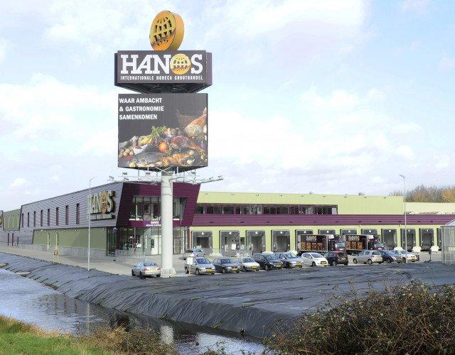 vanaf de A13 distributiecentrum zelfbedieningsgroothandel HANOS Delft