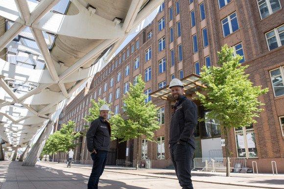 Projectteam van de duurzame en circulaire renovatie van het Centre Court in Den Haag