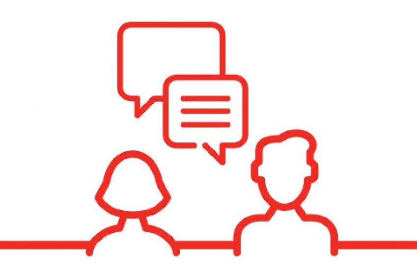 icon eerste gesprek voor sollicitatieprocedure bij Heembouw